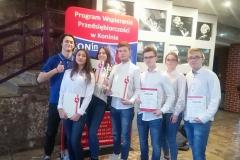 Udział uczniów ZSBiKZ w konkursie Być przedsiębiorcą, 2019 r.