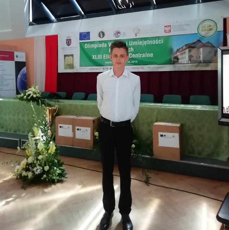 Mateusz Jagodziński finalistą XLIII Olimpiady Wiedzy i Umiejętności Rolniczych