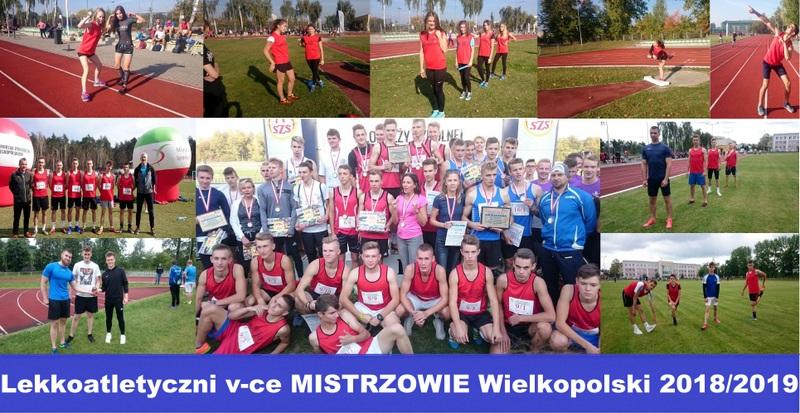 Lekkoatletyczni vce-MISTRZOWIE Wielkopolski