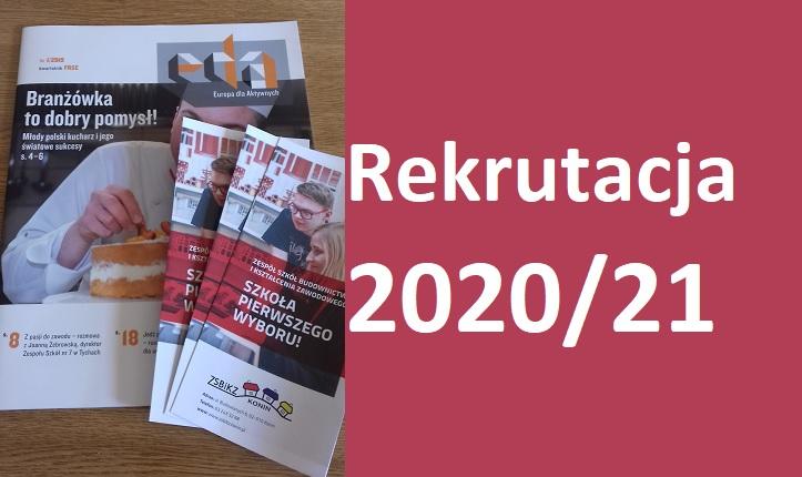 Harmonogram rekrutacji do technikum i branżowej szkoły I stopnia 2020/2021